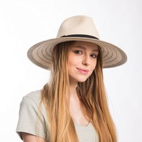 Muchique summer panama fedora for women striped large brim floppy paper straw sun hats with black.jpg 200x200