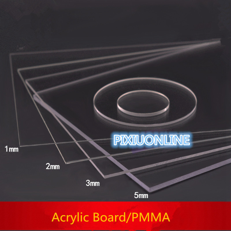 1PCS YT1331 Acrylic board Transparent Organic Glass DIY Plastic Building Model Material Thickness 1 mm Area 200*200mm PMMA j142 acrylic board 30 20cm full thickness 2mm cover thicken film high transparency plastic board for diy used free shipping