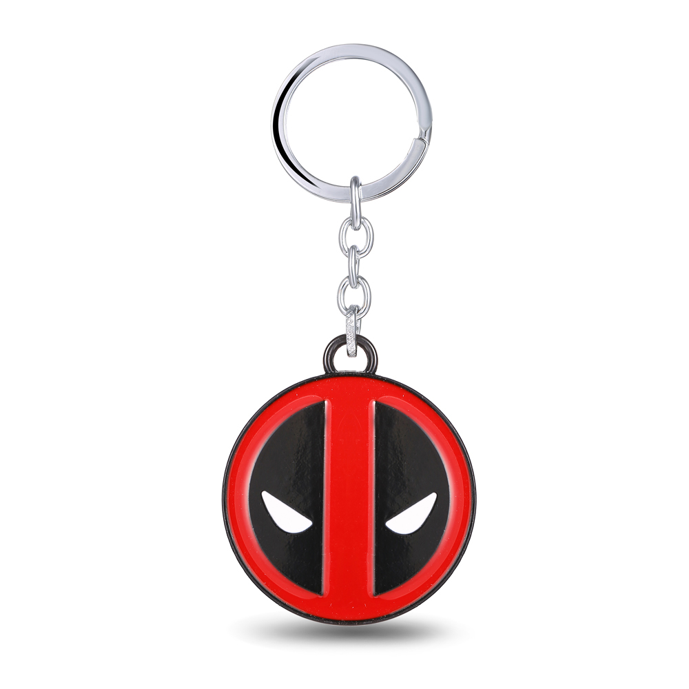 MS JEWELS Wholesale Hero X-Men Deadpool Key Chain Alloy Key Rings Gift and Present Keychains Accessories