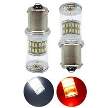 2X Super Bright 1156 BA15S 1157 BAY15D 3014 48 SMD P21/5W Auto LED Bulb Turn Led Signal Brake Leds light Lamps White Red DC 12V