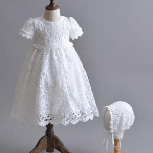 Белое платье принцессы для новорожденных, платье для крестин для девочек, пасхальное платье для малышей, длинное платье на день рождения и К...