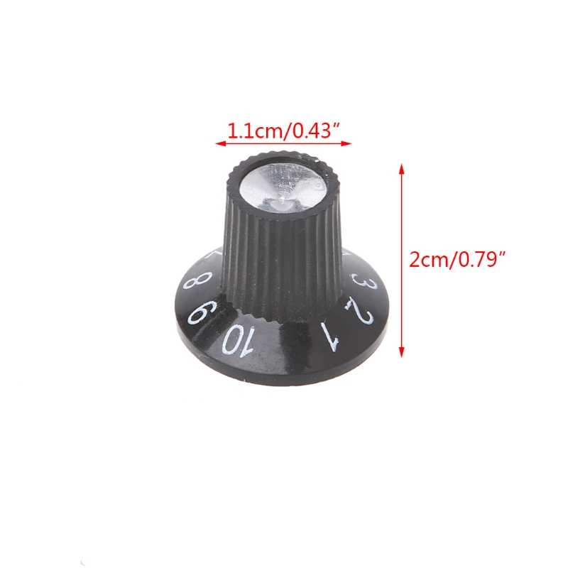 1pc Guitar Knob Amplifier Skirted Knobs Volume Tone Control For Fender Parts
