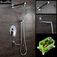 Бесплатная доставка Embedded окно микшера Клапан в стену душ sus Овальный осадков Насадки для душа Товары для ванной