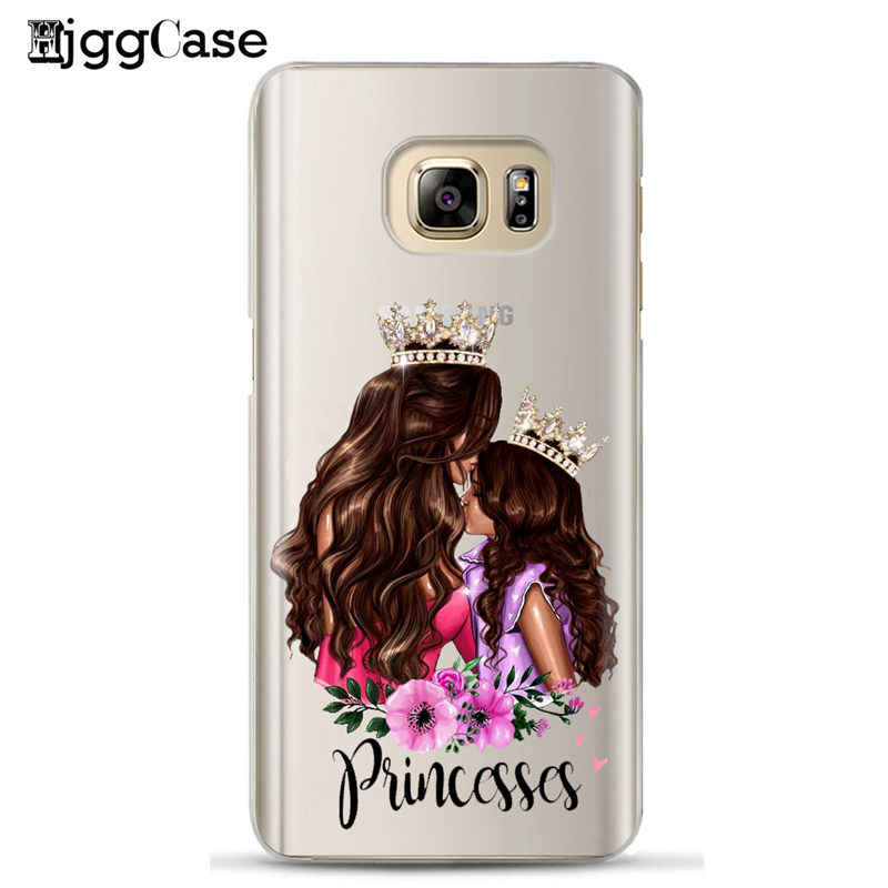 Queen Princess Super MaMa Mom Girls Baby Mom Girl Phone Case For Samsung S8 S9 S10 Plus S6 S7 Edge J5 J7 A5 2017 A6 A8 Plus 2018