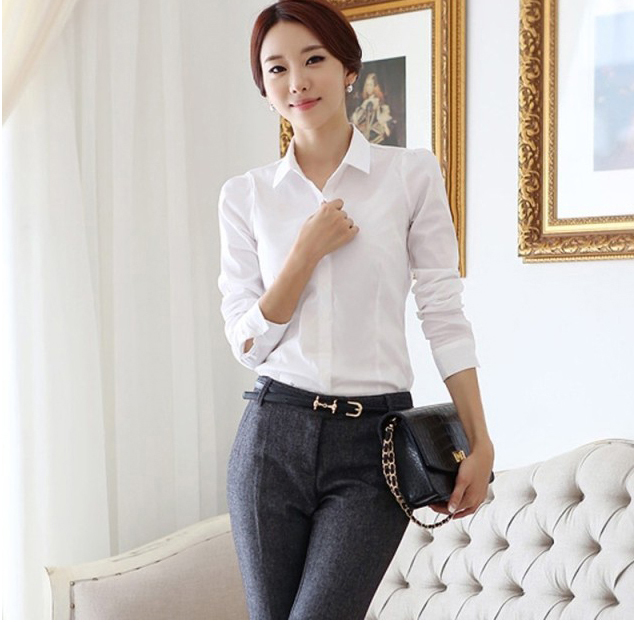 Best White Button Down Shirt Womens Cotton White Slim Fitted Blouse