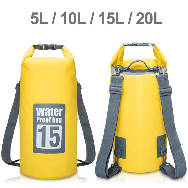 66e2bae8f49e Premium Waterproof Bag Dry Sack Adjustable Shoulder Strap Perfect for  Kayaking Boating Canoeing Fishing Rafting Swimming Camping