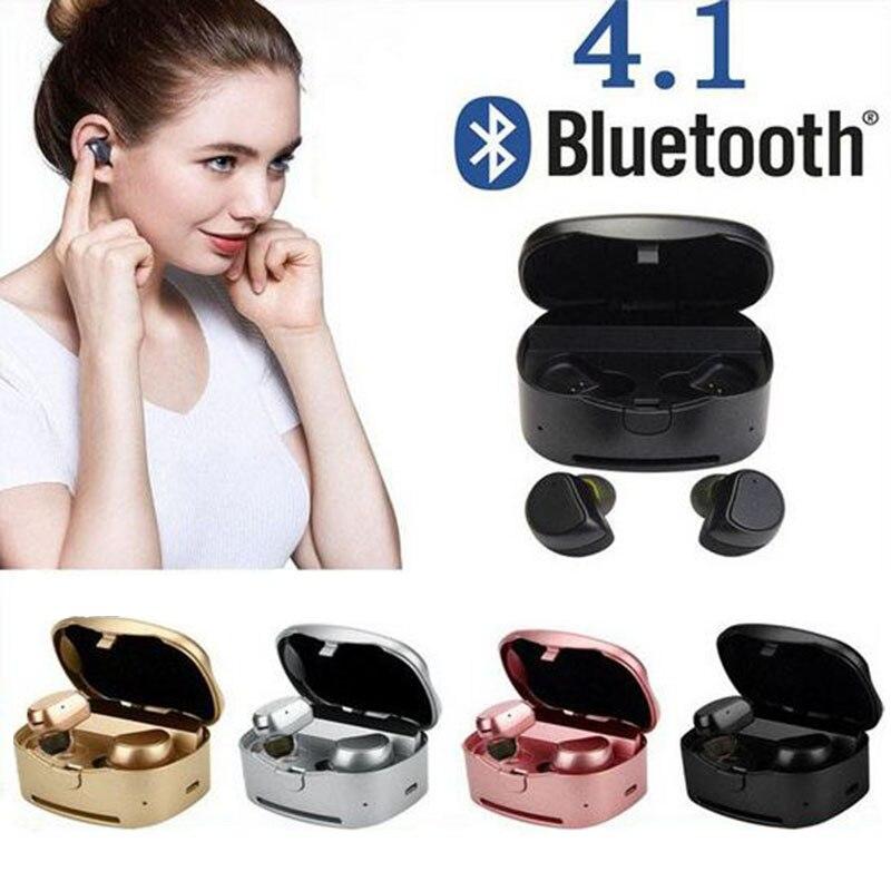 Yulubu TWS HV-316T jumeaux véritable sans fil Bluetooth écouteurs Mini stéréo Bluetooth casque mains libres écouteur avec Dock de boîte de charge