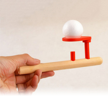 1pcs Wooden Beech Pipe + 2pcs Foam Ball Set Floating Ball Game Toys For Kids Children Educational Novelty Gag Fun Toy