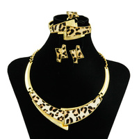 CZ Africa New Classic Women S Jewelry Set Leopard Design Necklace Earrings Jewelry Italy Charm Bride