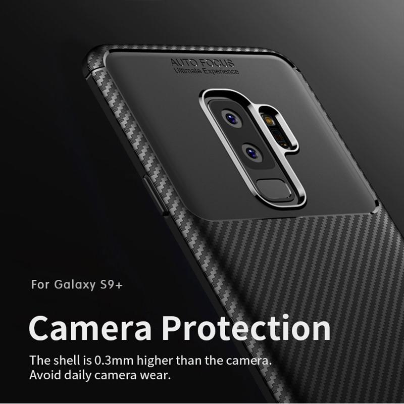para Samsung S9 Funda IPAKY S9 Plus Funda de silicona TPU Fibra de - Accesorios y repuestos para celulares - foto 2