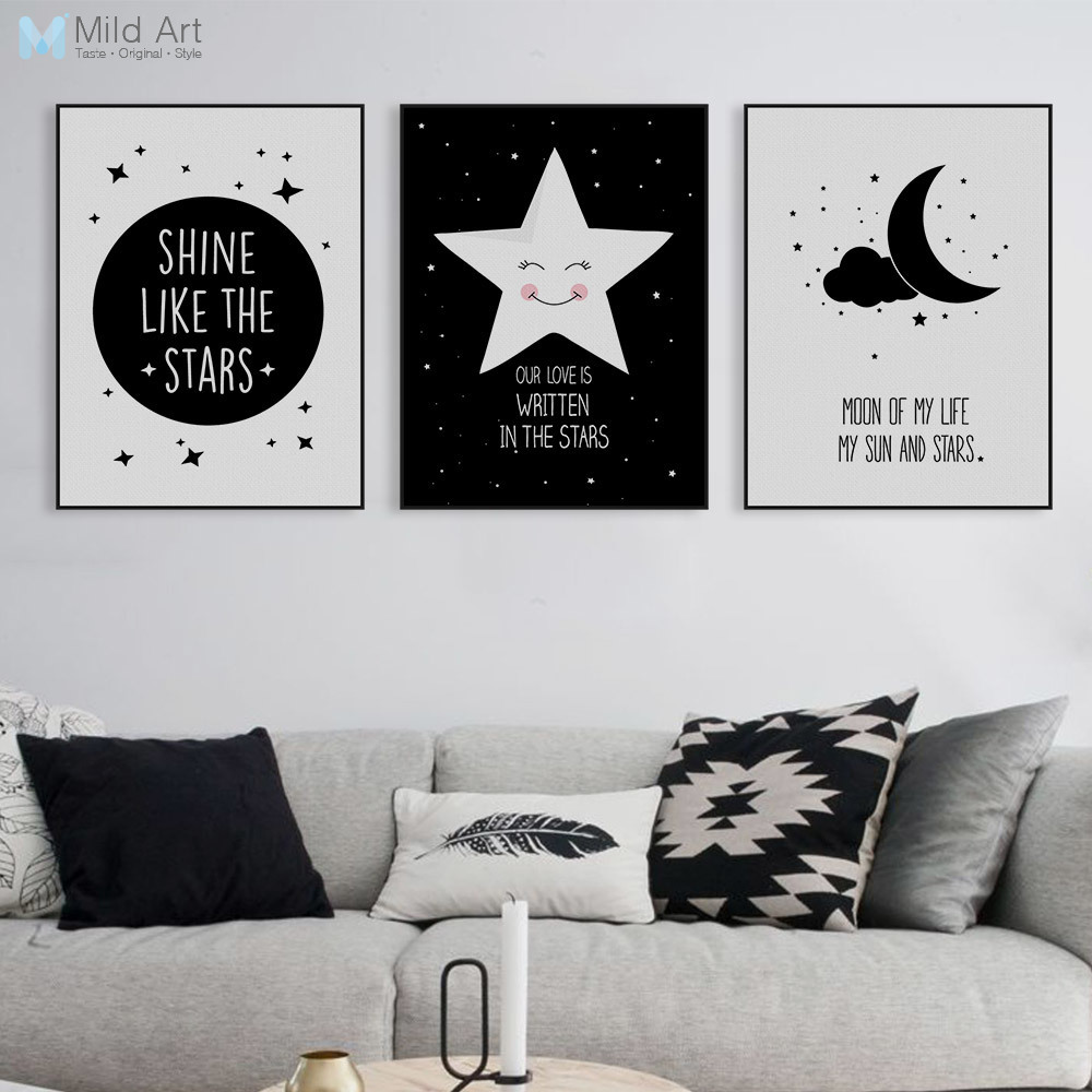 Nordic Motivational Quotes A4 Poster Print Star Wall Art Picture