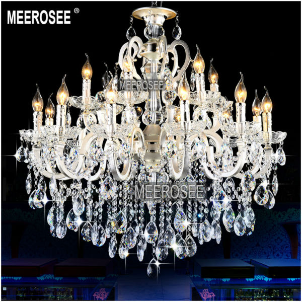 Aliexpress Gorgeous Silver 18 Arms Chandelier Crystal Light Fixture Zinc Alloy Re Hanging Lamp With Top Class K9 Crysta Md8523 From