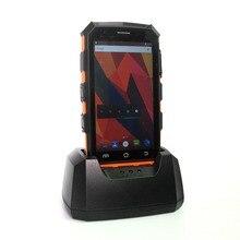 Высокое качество КПК 4G WI-FI мобильный коллектор Android 7,0 RFID 1D сканер штрихкода 2D с пистолетной рукояткой зарядным устройством