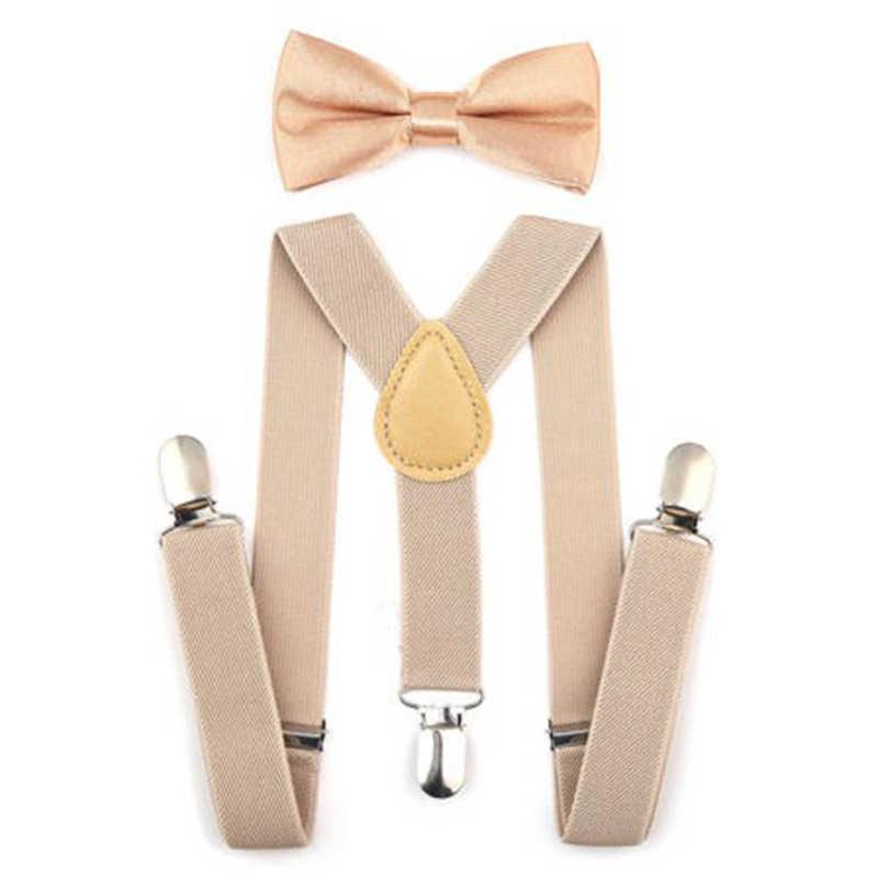 2bd2347a8ff3 ... BBYES Kids Y-Back Braces Suspenders Set Boys Girls Suspender & Bow Tie  Matching Set ...