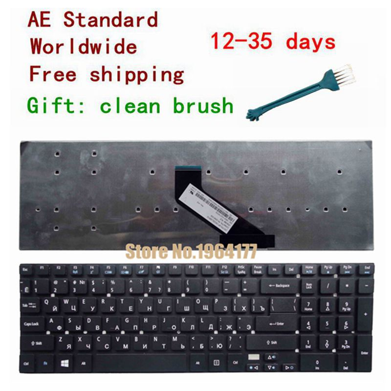 Russian laptop Keyboard For Acer Aspire V3-531 V3-772 V3-531G E1-570 V5-561 V5-561G E1-570G V3-7710 V3-7710G V3-772G RU Black quying laptop lcd screen for acer aspire v5 573pg v5 561 v5 561g v3 572 v3 572g vn7 591g es1 520 series 15 6 1366x768 30pin