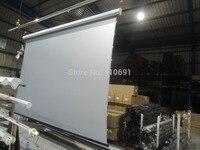 По индивидуальному заказу 180 дюймов 4:3 электрический натяжитель экрана 3D серебро Экран с пультом дистанционного управления Управление труб