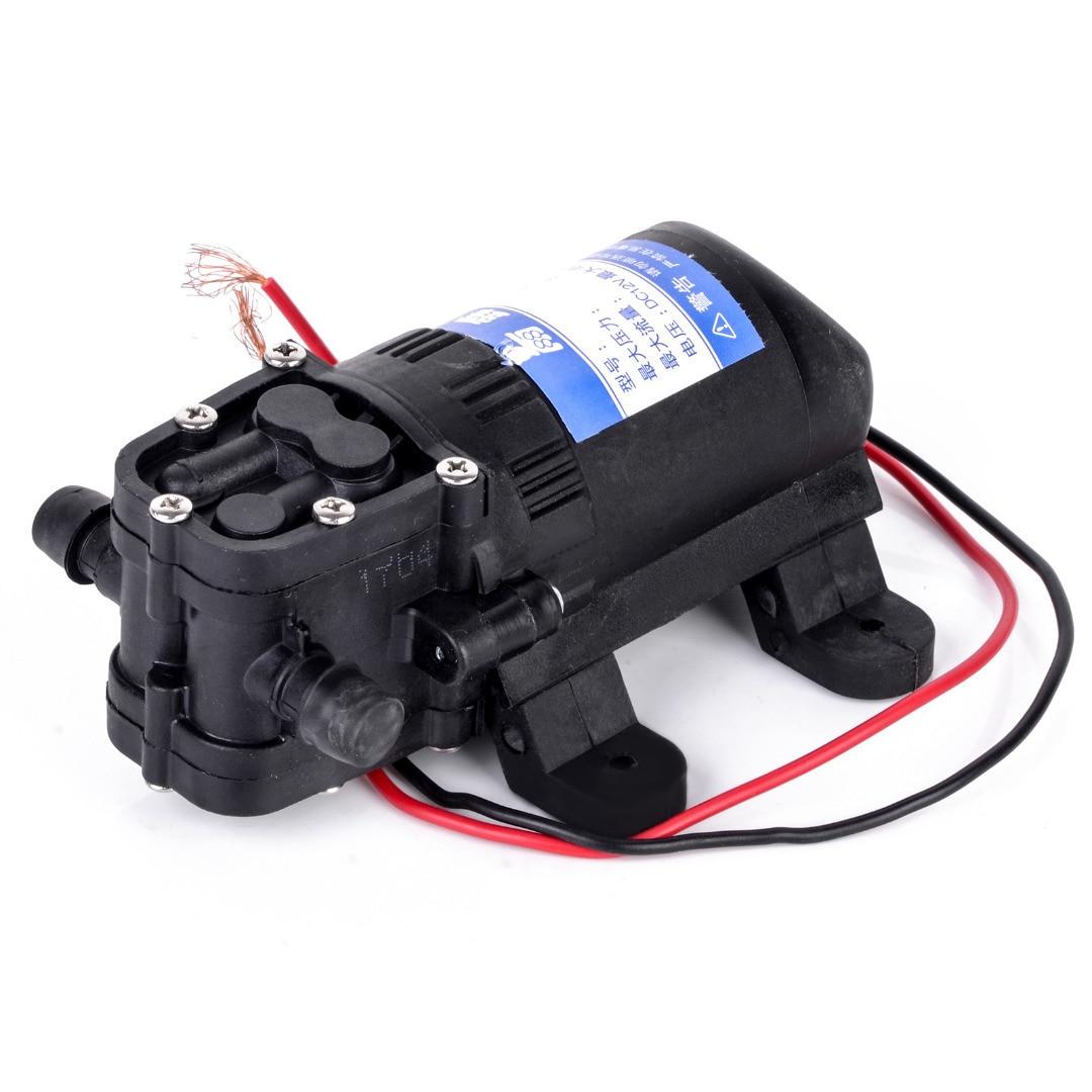 Durable DC 12V 70PSI 3.5L/min Agricultural Electric Water Pump Black Micro High Pressure Diaphragm Water Sprayer Car Wash 12 V 5