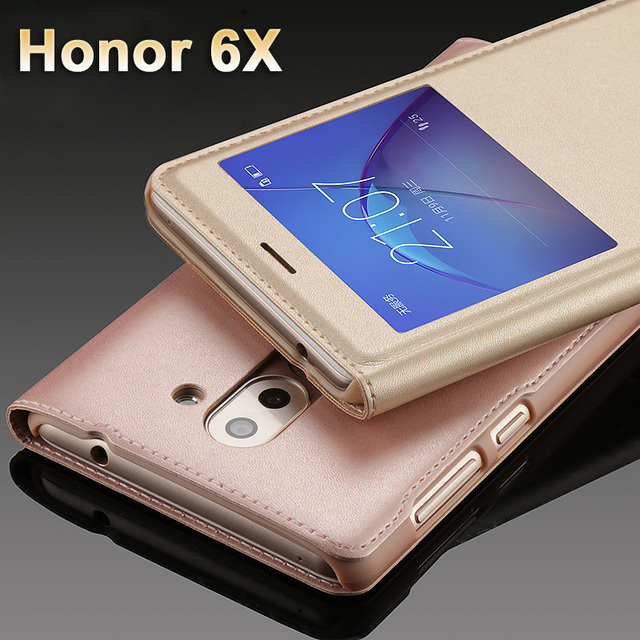 Huawei Honor 6x Case cover Luxury PU Leather Cover Flip Case For...