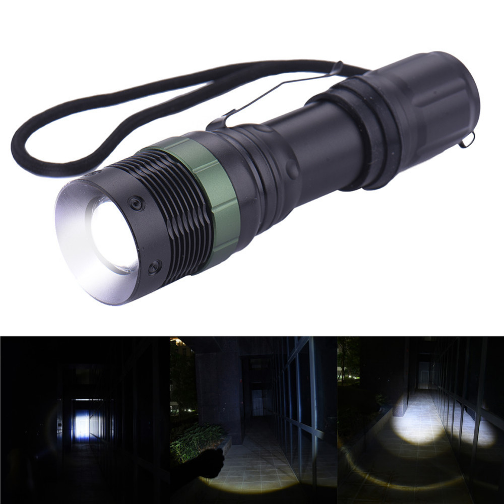 Waterproof Led Portable Lighting CREE XML T6 Variable Focus Zoomable Flashlights & Torches 3 Modes