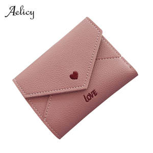 Aelicy Clutch Wallet Short Female Purse Small Coin-Card-Holder Carteira High-Quality