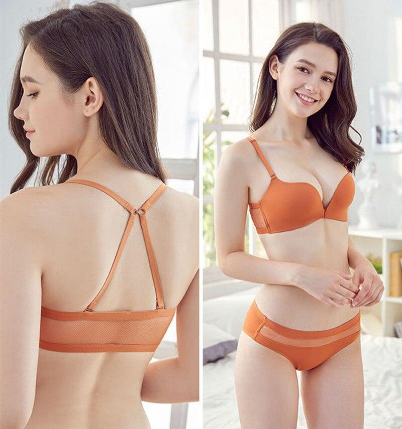Sexy Underwear   Set     Bra   Lingerie   brief     Set   Bralette Push Up   Bra   Soft Girls Sexy Seamless   Bra   Wire free Front Buckle