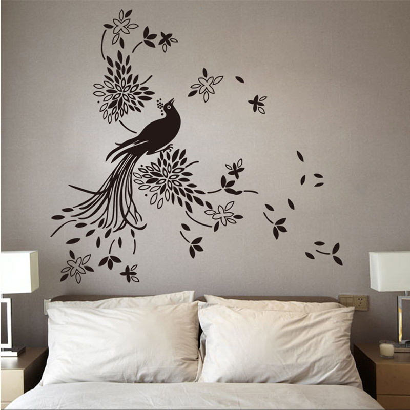 Large Size Pretty Birds Flying Wall Art Vinyl Decoration Removable Sticker 109cmx113cm Free Shipping