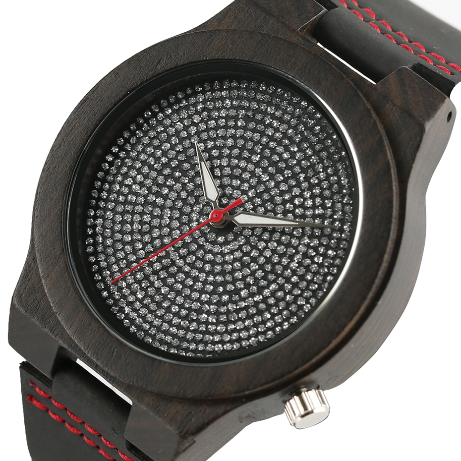 Top Luxury Mens Watch Retro Ebony Wood Watch Unique Diamond Dial Sports Quartz Women Writstwatch Genuine Leather Valentine Gifts 2020 (4)