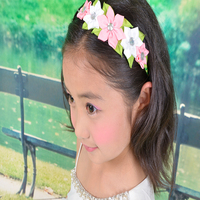 20 pcs hand customize new style BLESSING Good Girl Modern Style Headband accessories hyacinth Garland Hair Bow
