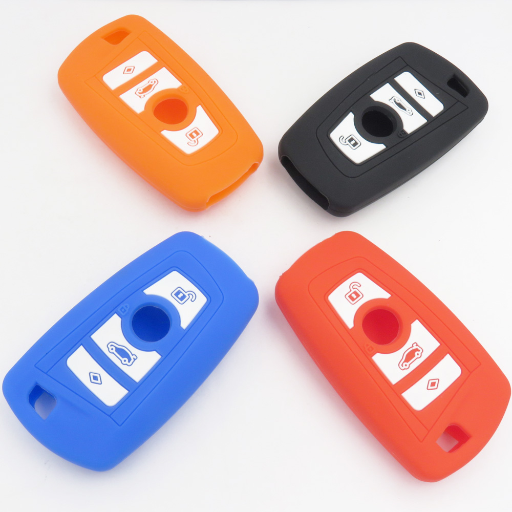 Cocolockey Silicone Key Cover Case For BMW X1 x3 x4 X5 X6 3 5 4 7 series E87 F20 E90 E92 E93 Smart Remote Car Key Wallet