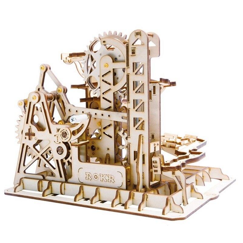Robotime DIY башня Coaster магия творческий Мрамор запустить игру деревянная модель строительные Наборы сборки игрушка в подарок для детей и взросл...