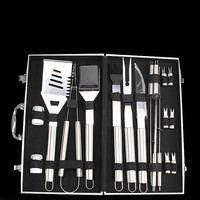 BBQ tools 18 piece set bbq Meige stainless steel grill outdoor barbecue fork