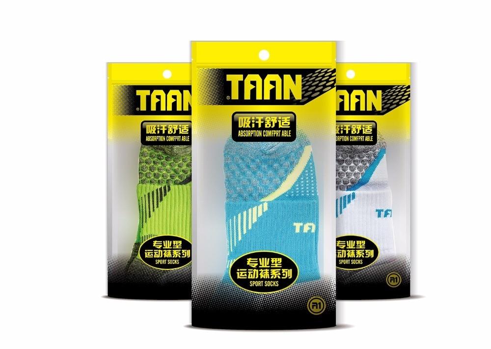 1 Pair TAAN Men's Sports Sock Badminton Tennis Thick Cotton Tennis Socks Skidproof T-345