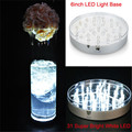 Kitosun 6inch Round LED Base Vase Light with 31 Super Bright Leds for Centerpiece Vase Lighting Decoration Operated by 3aa