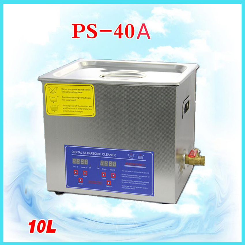 10L Digital Ultrasonic cleaning machine circuit board parts laboratory cleaner Digital Ultrasonic cleaner 110V/220V PS-40A 30l yl 100s 600w ultrasonic cleaner for household cleaning dishwasher metal parts 110v 220v