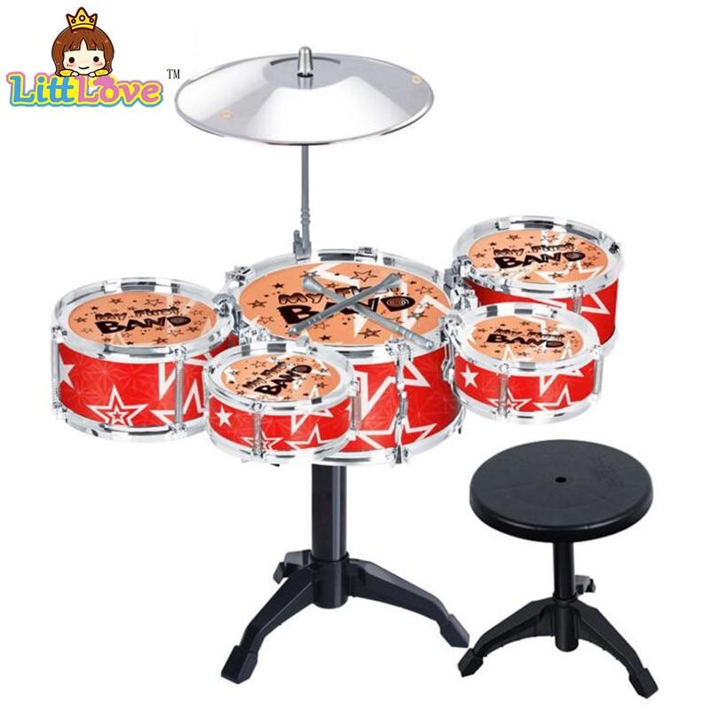LittLove 어린이의 재즈 드럼 세트 드럼과 악기 장난감 - 학습 및 교육 - 사진 5