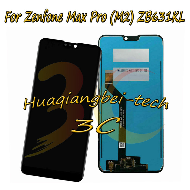 6.3 New For Asus Zenfone Max Pro ( M2 ) ZB630KL / ZB631KL Full LCD DIsplay + Touch Screen Digitizer Assembly 100% Tested