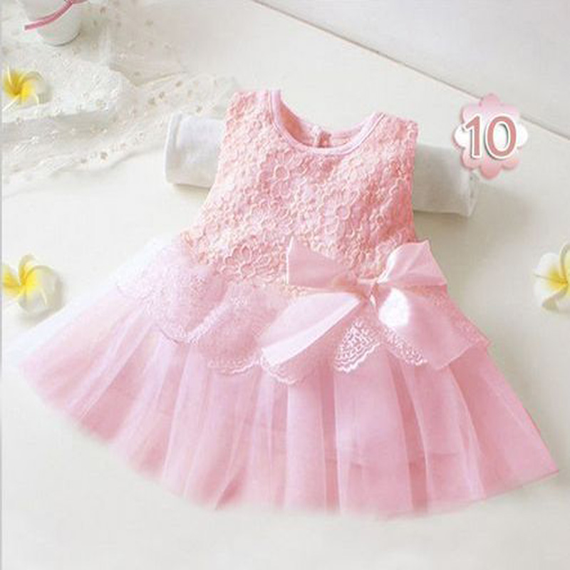 infantil cute baby girls sleeveless Floral elegant princess dresses with bow children Party wedding summer clothing DY009B