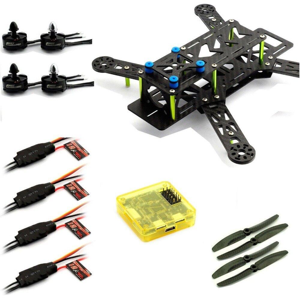 Emax Quadcopter 250 Frame MT2204 Motor 12A ESC Carbon Prop CC3D GREEN