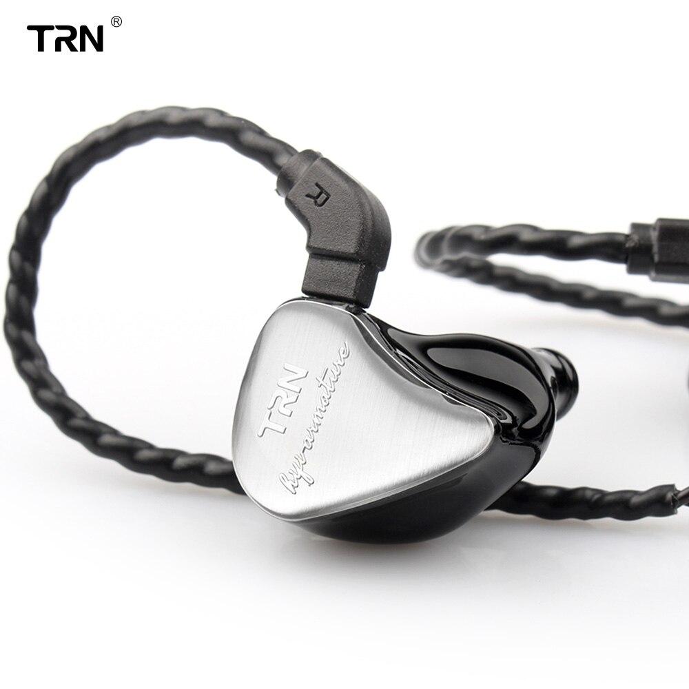 TRN IM1 1BA + 1DD hybride dans l'oreille écouteur Monito en cours d'exécution Sport écouteur HIFI casque détachable détacher 2Pin câble personnalisé écouteur