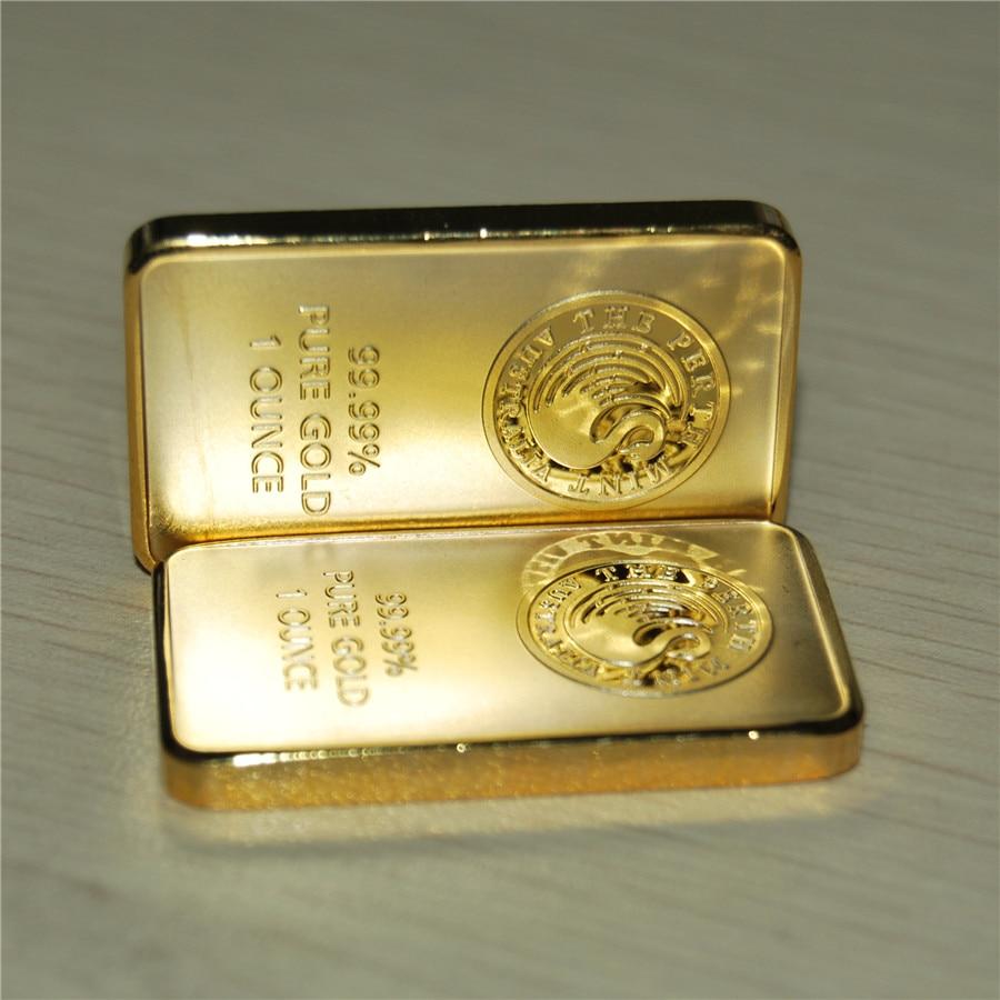 24k Gold Plated Perth Mint Australia Bullion Bar Australia Gold Plated Bullion Bar Free Shipping 1oz, Free Shipping