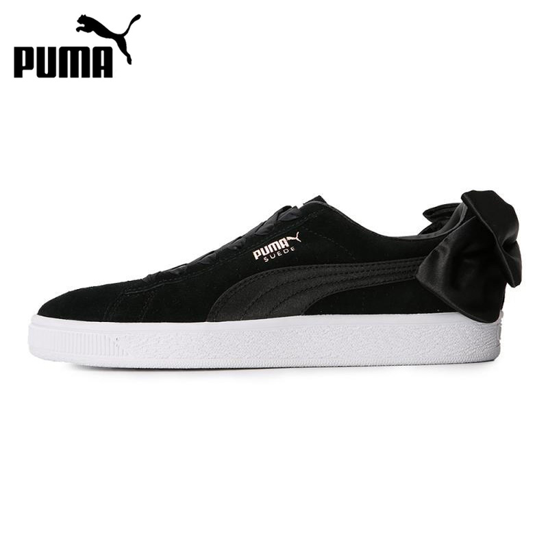 Original New Arrival 2018 PUMA Suede Bow Wns Womens Skateboarding Shoes Sneakers