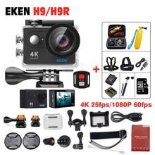 Original EKEN H9/H9R Remoto Sports & câmeras de Vídeo de Ação Ultra HD 4 K WiFi 1080 P/60fps 170D lente à prova d' água Câmera do Capacete DV