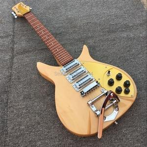 Электрогитара ricken-Back 325, 3 шт., реальные фотографии, бесплатная доставка, твердая древесина, гитара, золотая пластина