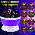 2017 Hot sell Romantic New Rotating Star Moon Sky Rotation Night Projector Light Lamp Projection with high quality Kids Bed Lamp