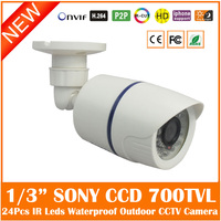 1 3 Sony Effio E CCD 700TVL Bullet CCTV Camera Waterproof Nightvision 3 6mm Lens Camera