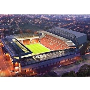 Image 2 - الكلاسيكية بانوراما ثلاثية الأبعاد لغز إنكلترا أنفيلد الهندسة المعمارية ريدز ملاعب كرة القدم اللعب موديلات صغيرة مجموعات بناء ورقة