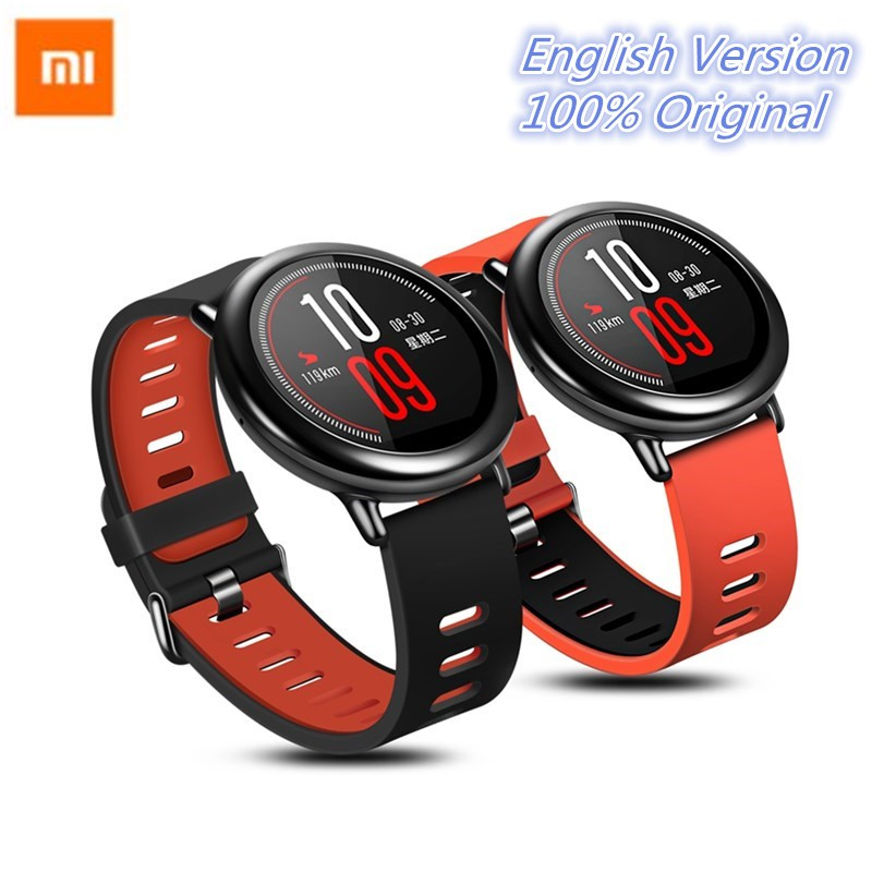 Xiaomi Huami AMAZFIT Android Smart Watch Bluetooth Sports Smartwatch WiFi Dual Core GPS Tracker Heart Rate Passometer Wristband hetngsyou android smartwatch waterproof phone bluetooth smart watch 1 3ghz dual core ip67 gps watch cam 1g 8g heart rate 3g wifi