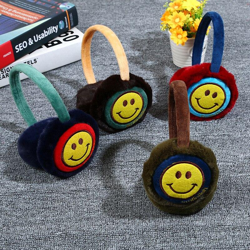 Children Earmuffs Warm Smile Boys And Girls Cartoon  Cartoon Warm Ear Warm Headgear Winter Accessories  Kids Earmuffs