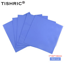 10 Pcs Tishric Termal Wastafel Panas Konduktif Silicone Pasta Bantalan GPU CPU Cooler Thermal Pad Shim Kipas Radiator Cooling 1.5 MM(China)