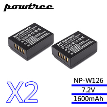 2Packs7.2V 1600mAh Li-ion NP-W126 Camera Battery For Fujifilm FinePix HS30EXR HS33EXR X-Pro1 X-E1 X-E2 X-M1 X-A1 X-A2 X-T1 X-T10